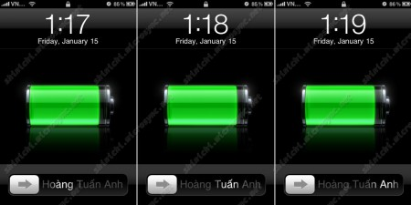 iPhone Slide2Unlock Changed 450x225 Thay đổi dòng chữ slide to unlock trên iPhone