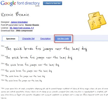 Google Fonts API - Xem thử phông chữ