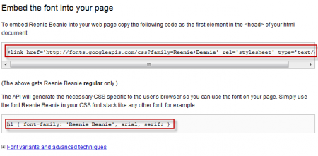 Google Fonts API - Lấy mã chèn