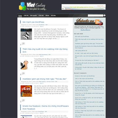 Giao diện mới của Việt Coding đón mừng Giáng Sinh và Năm mới 2011