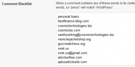 Tận dụng sức mạnh của Comment Blacklist