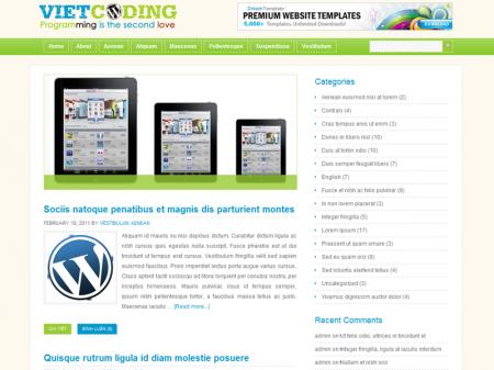 Giao diện demo Việt Coding phiên bản 5 - 2011