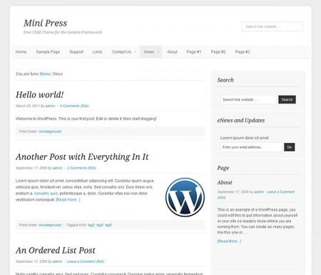 MiniPress Single Page