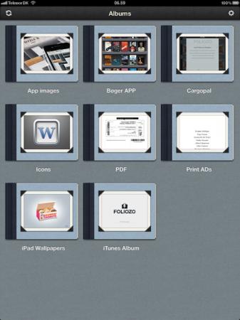 Show portfolio trên tablet