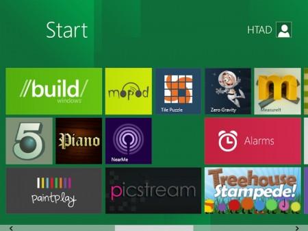 Start menu mở rộng