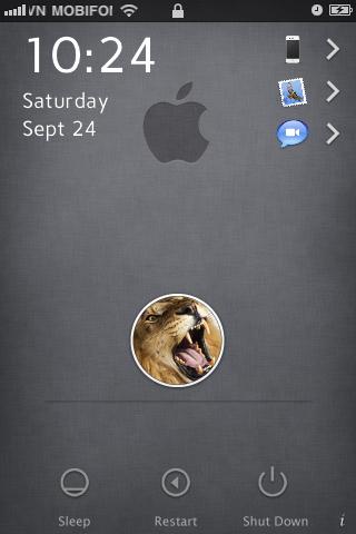 Lock Screen mang phong cách Mac Lion