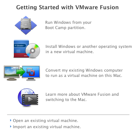 VMWare Fusion Boot Camp