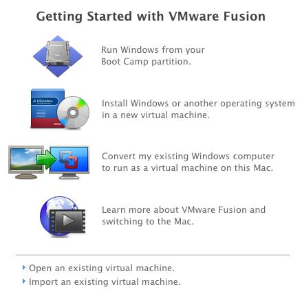 VMWare Fusion Boot Camp