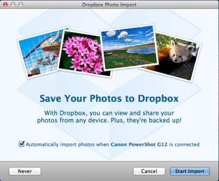 Import vào Dropbox